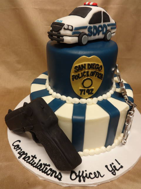 Police Officer Wedding Cakes